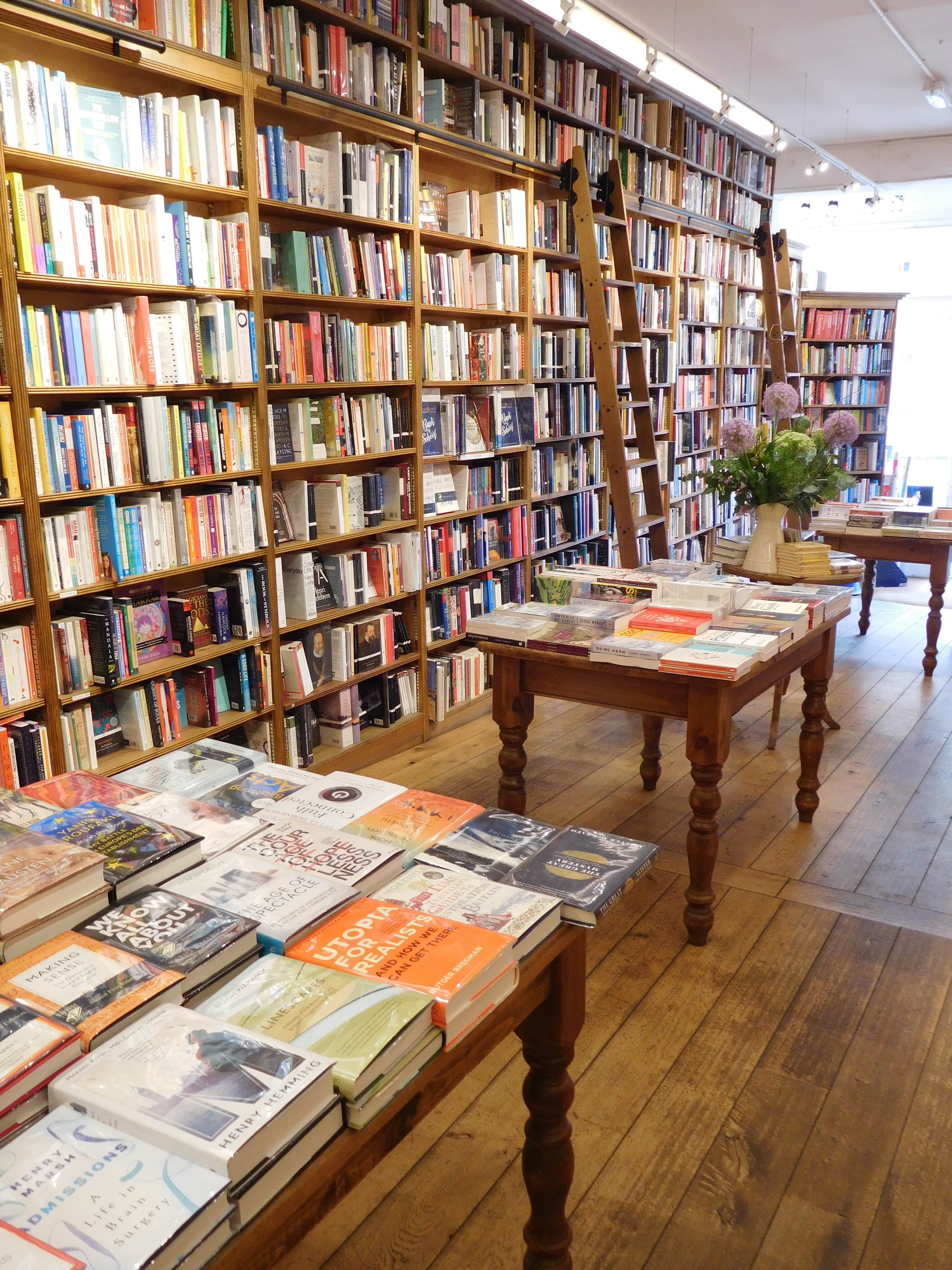 Topping & Co Bookshop interior