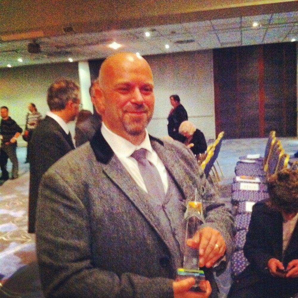 John Gwynne with Gemmell Award