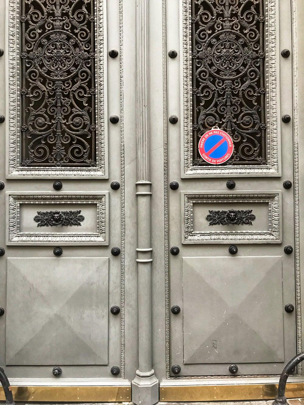 A closed doorway