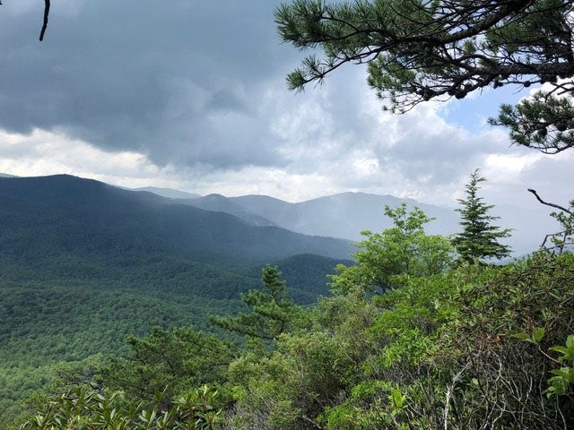 View of Western Side of Looking Glass Rock Blue Ridge Mountains