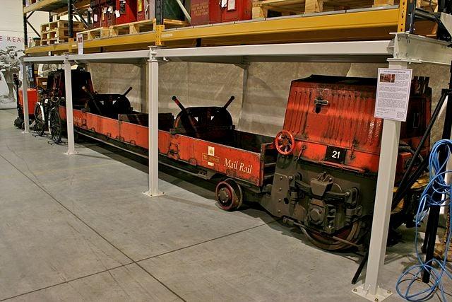 London Underground 'Mail Rail' postal train carriage