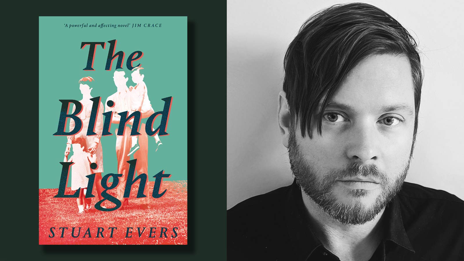 The Blind Light book cover and Stuart Evers