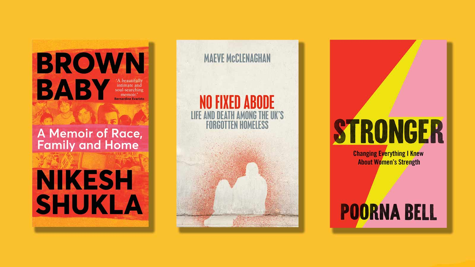 Brown Baby, No Fixed Abode and Stronger book covers