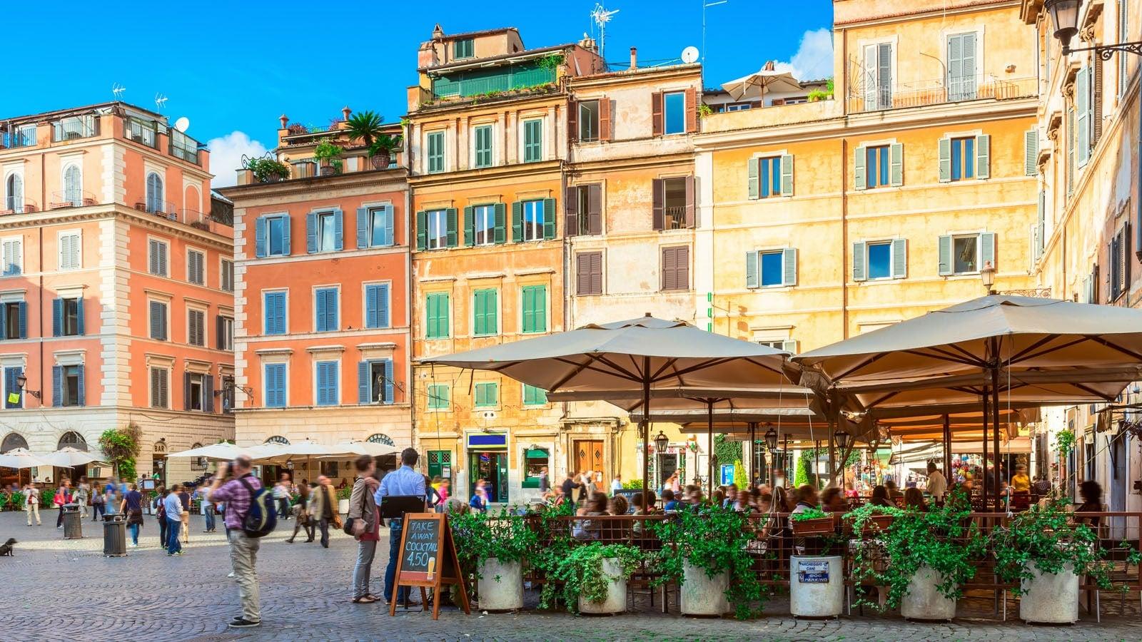 Trastevere square Rome
