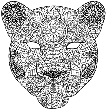 Colour-In Bagheera mask