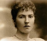 sepia photograph of Gertrude Bell in her 20s