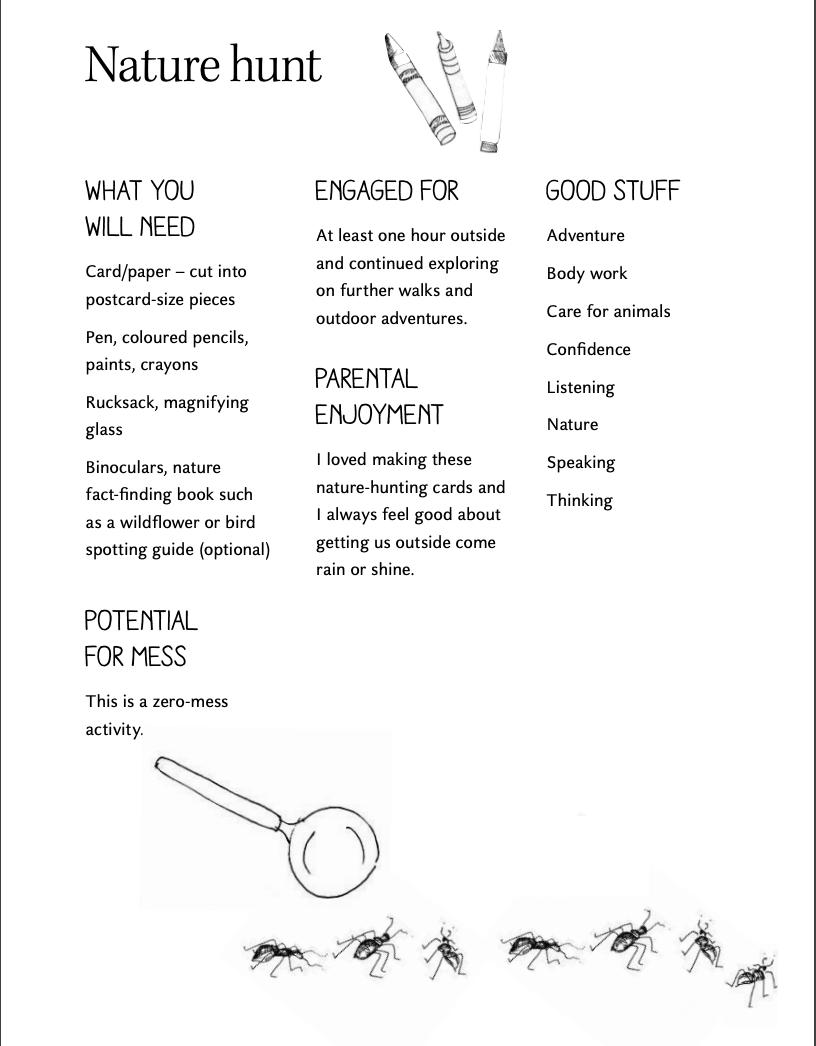 Activity Sheet - Nature Hunt - The Joy Journal - Laura Brand