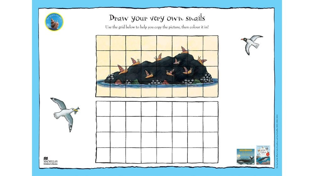 Activity sheet - Draw your own snails - The Snail and the Whale - Julia Donaldson - Axel Scheffler