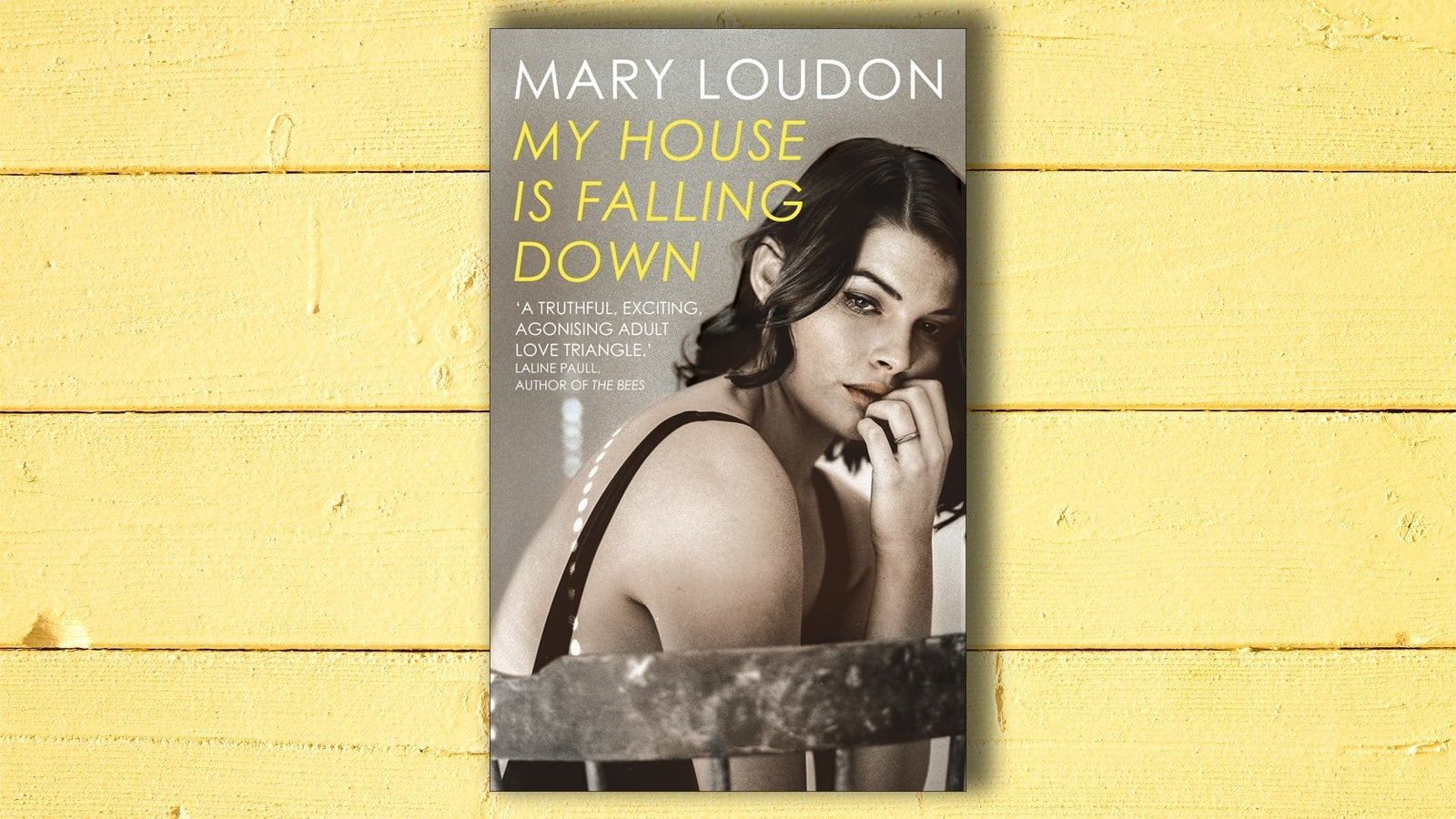 My House is Falling Down book cover on yellow background