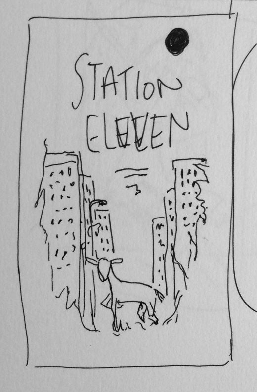 Rough sketch of Station Eleven cover