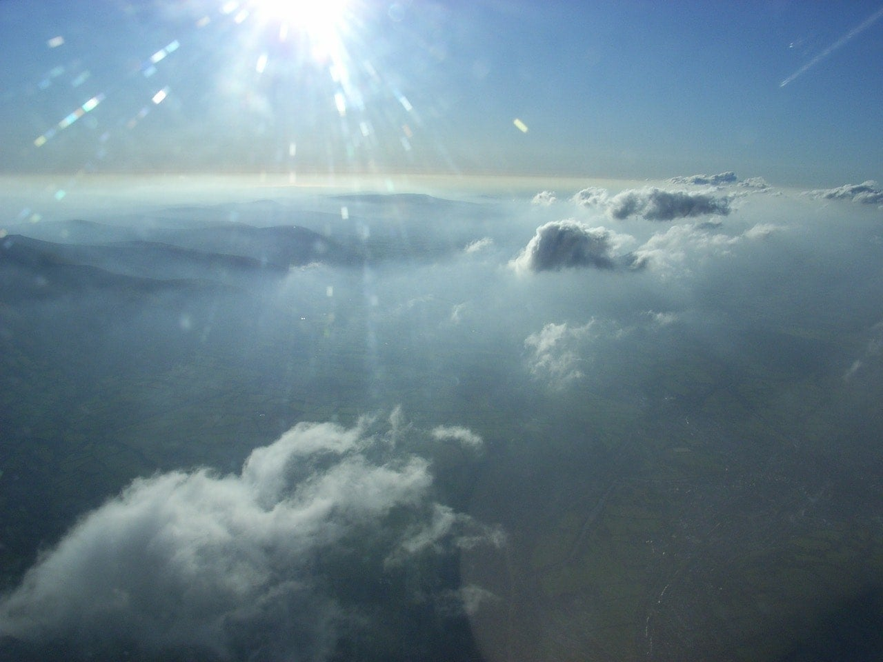 10,000 feet above the Black Mountains in Wales