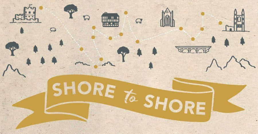 Illusration for Shore to Shore poetry tour 2016