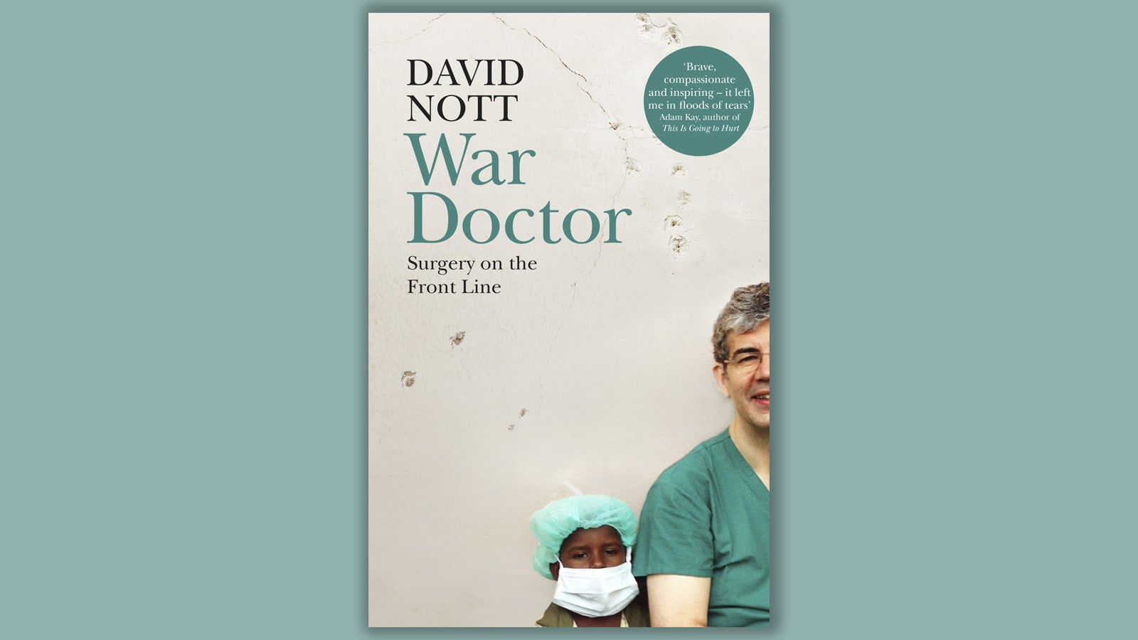 David Nott War Doctor book cover on a teal background