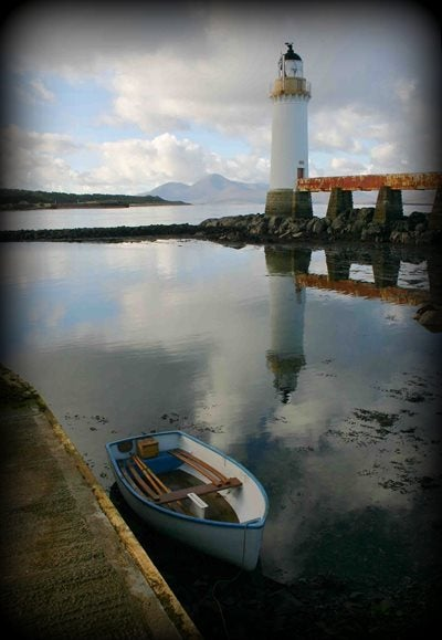 Dan Boothby's boat docked in Lighthouse Bay, Eilean Bàn, Kyleakin