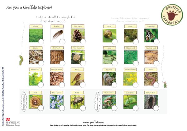 Gruffalo Nature Trail activity pack