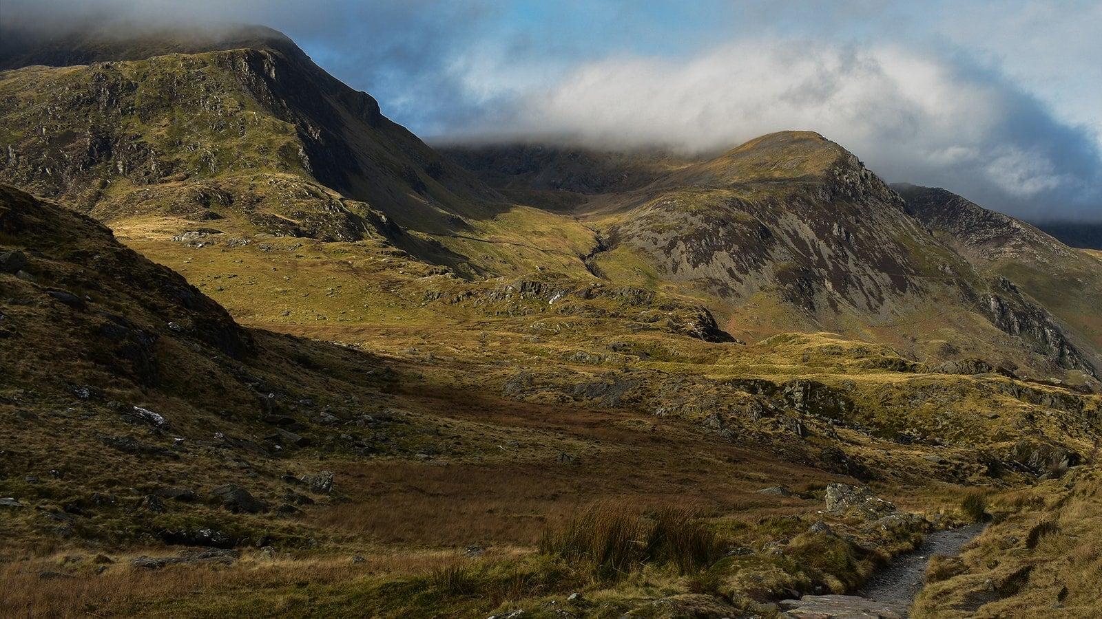 Welsh mountains landscape