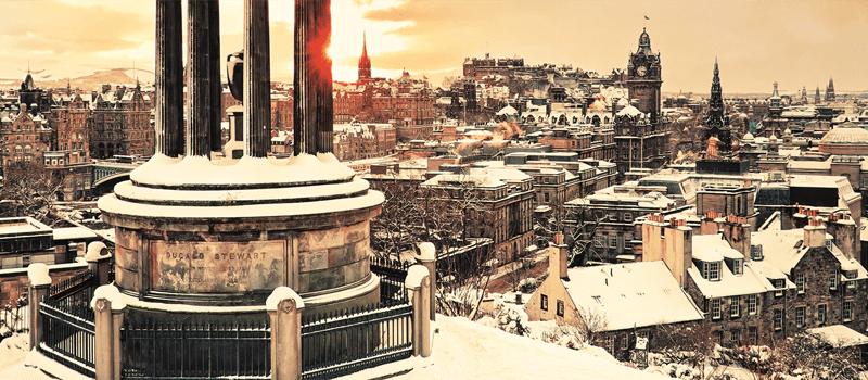 Edinburgh Golden Hour sunlight