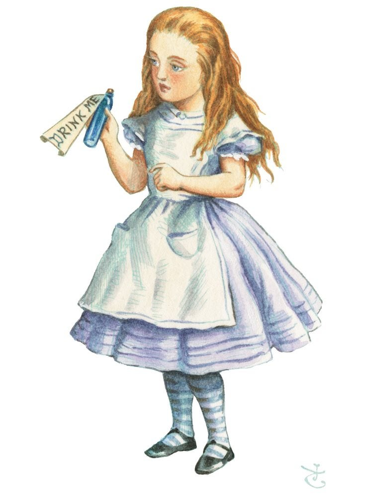 Alice in her blue dress