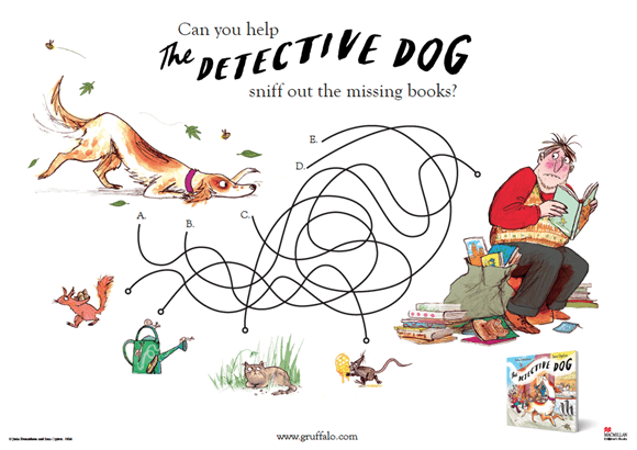 Activity Sheet - Find the Books - Detective Dog