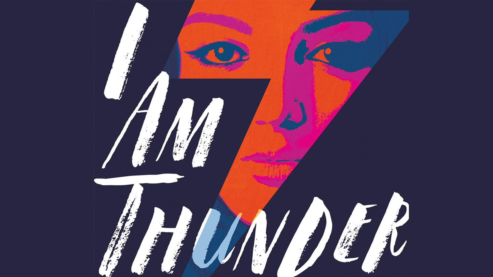 Section of the I Am Thunder book cover