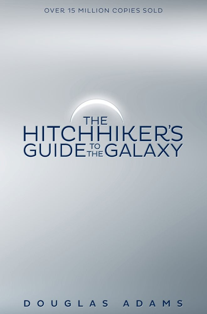 The first The Hitchhiker's Guide to the Galaxy cover that Stuart designed.
