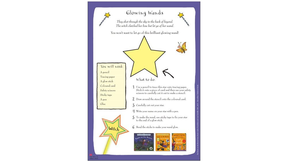 Activity Sheet - Glowing Witch Wands