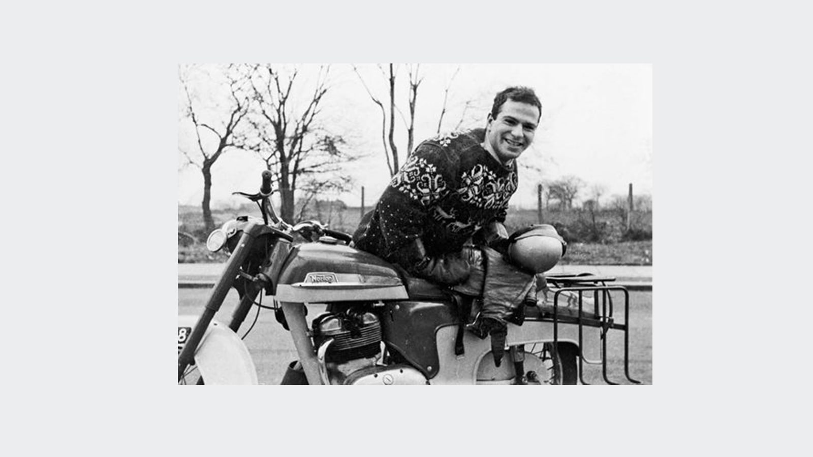 Oliver Sacks on motorbike in 1964