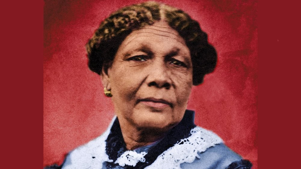 Mrs Mary Seacole tinted photograph portrait