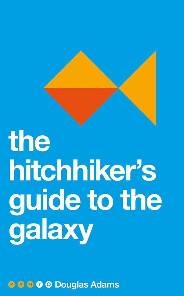 The Pan 70s cover for The Hitchhiker's Guide to the Galaxy.