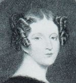 Black and white portrait drawing of Catherine Tylney Long