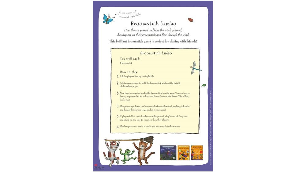 Activity Sheet - Broomstick limbo