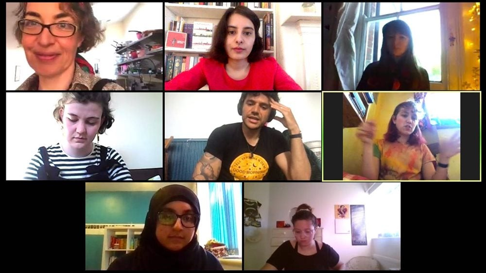 Poetry Students on Zoom Call