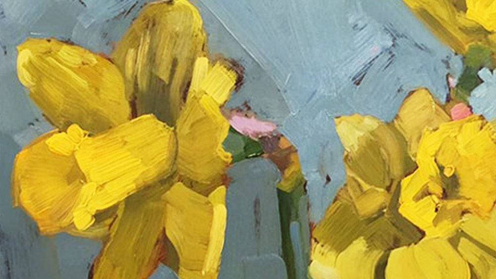 painted daffodils yellow flowers