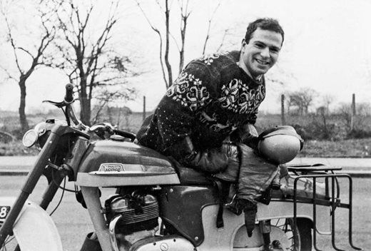 Oliver Sacks With his motorbike in 1956 (c) Charles Cohen