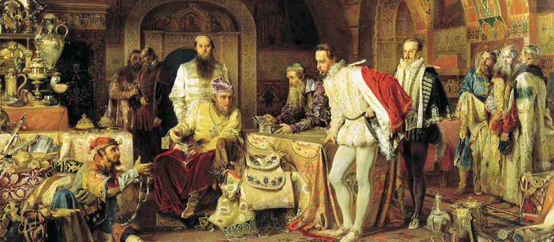 Ivan the Terrible depicted in a painting