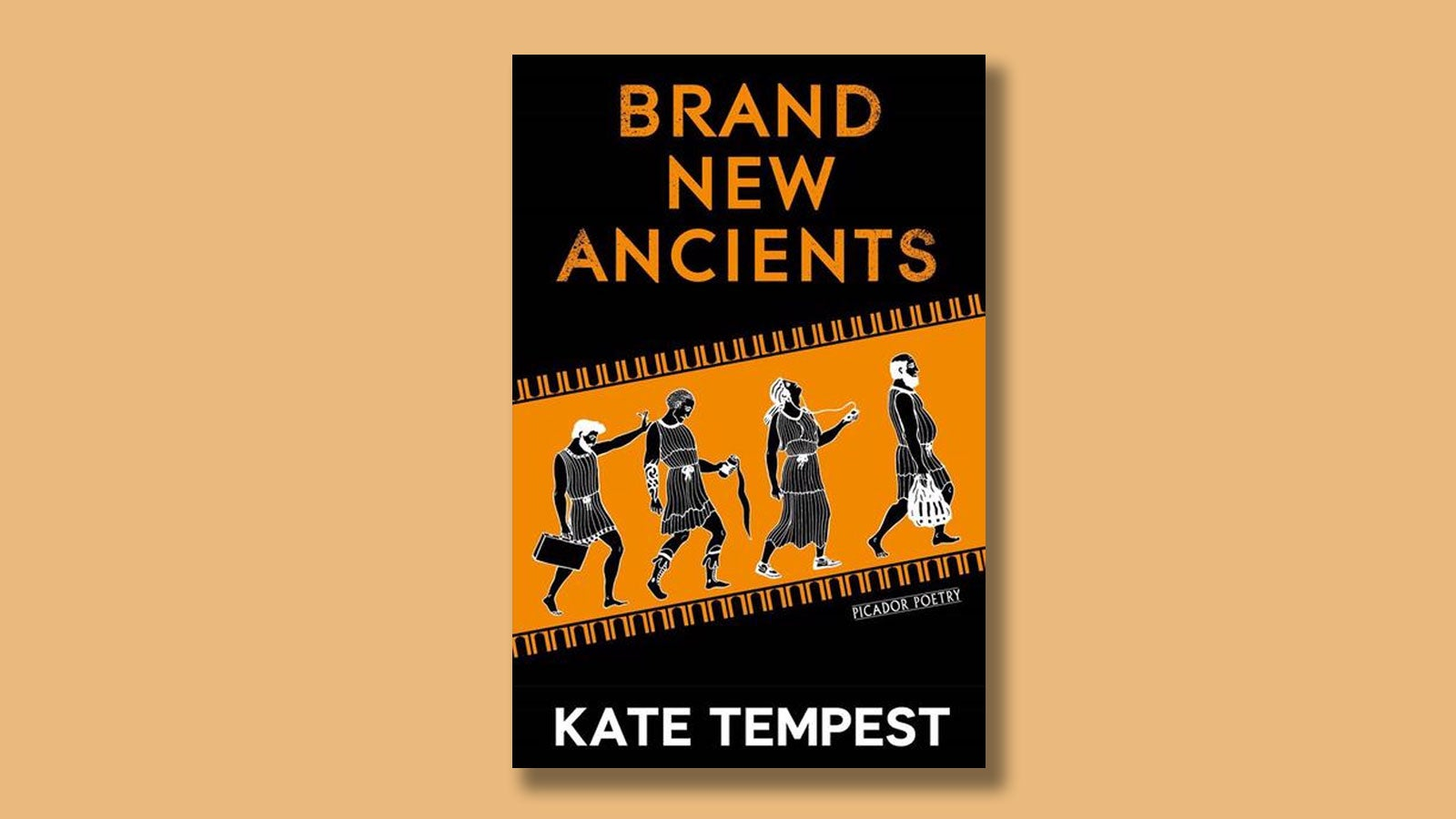 Brand New Ancients by Kae Tempest on a pale orange background.