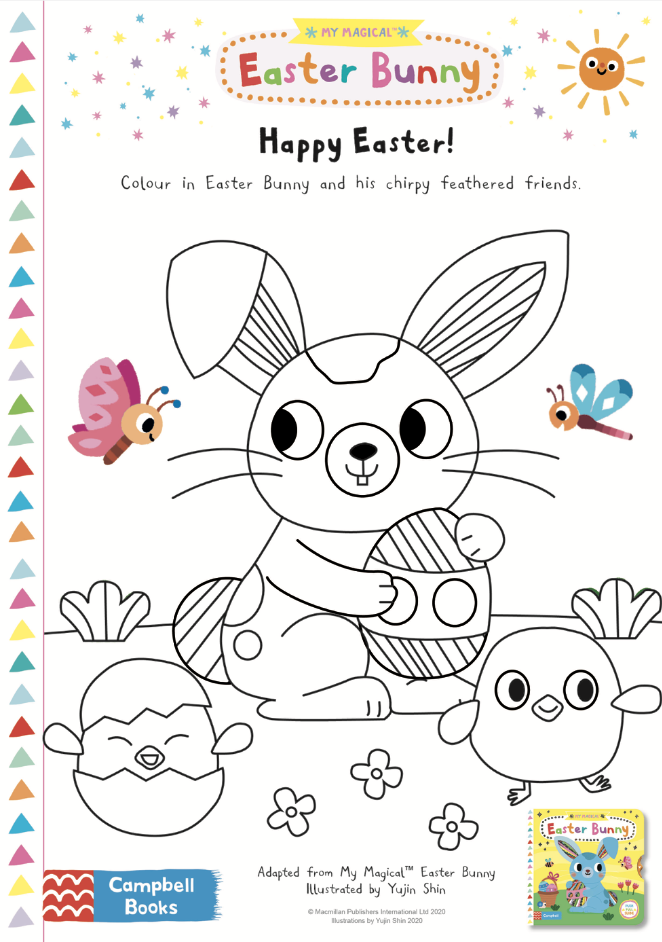Activity sheet - Easter Colouring Sheet - My Magical Easter Bunny