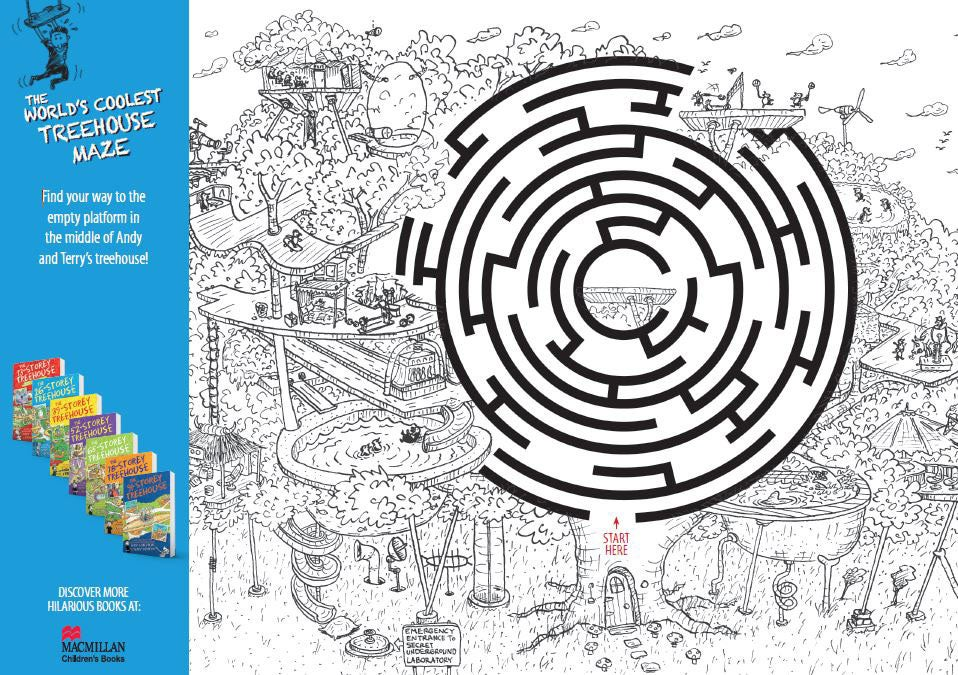 Treehouse maze activity sheet