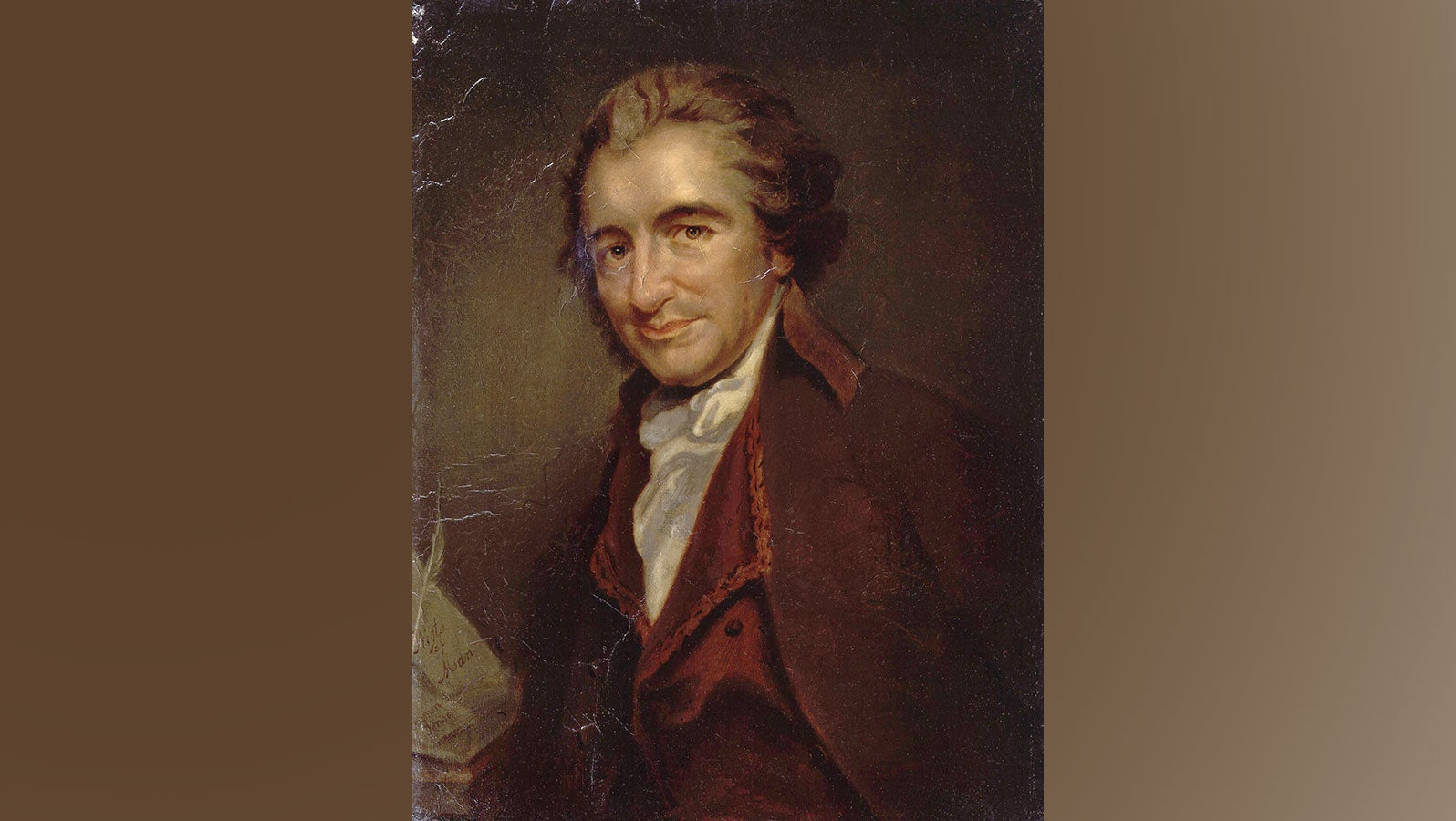 an oil painting of Thomas Paine