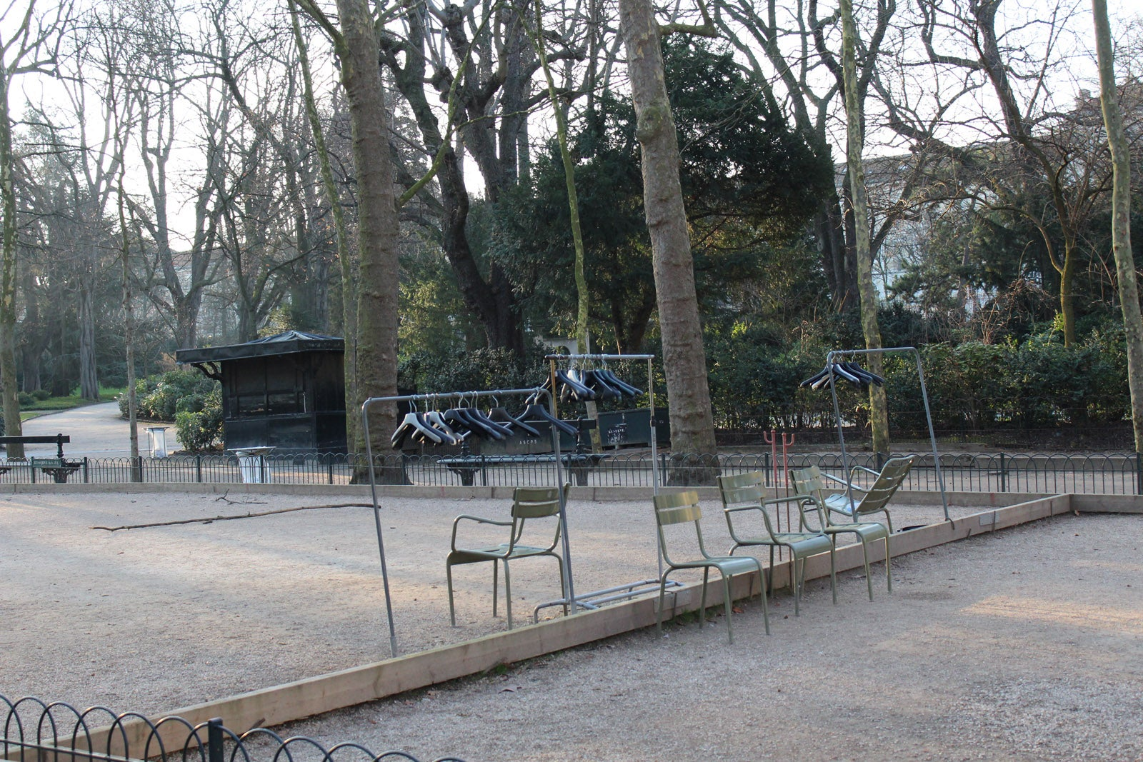 Coat hangers in the Jardin du Luxembourg