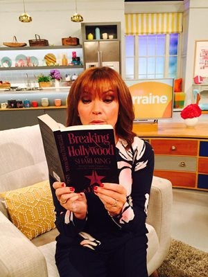 Lorraine Kelly reading Breaking Hollywood