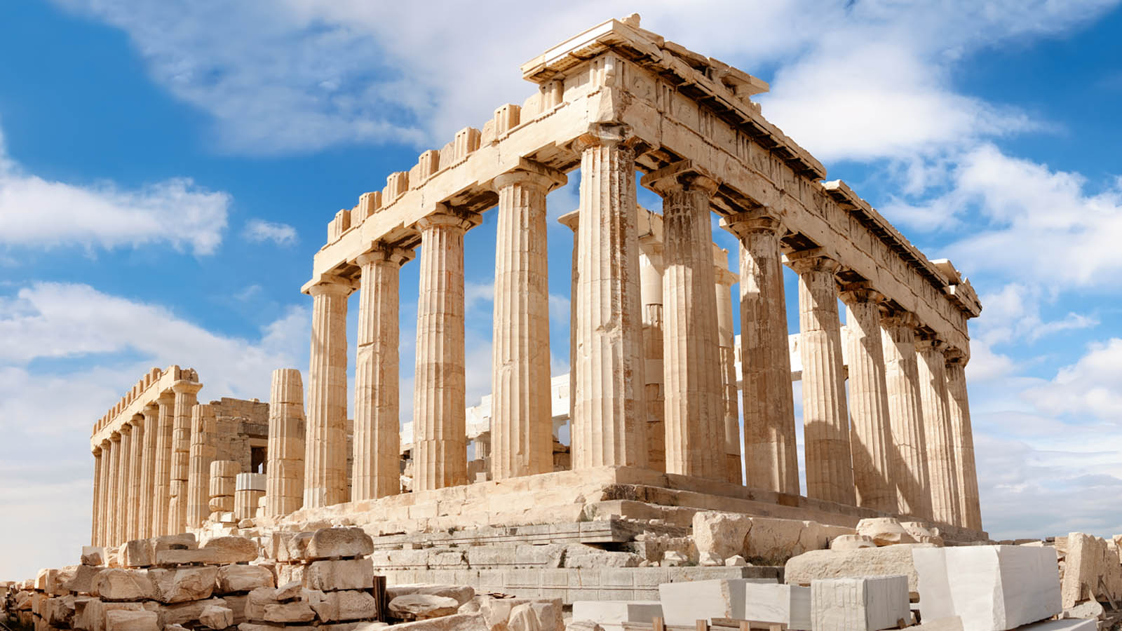 Acropolis of Athens Greece blue sky