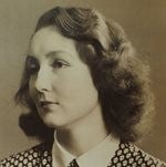 Sepia tinted photograph of Noreen Riols