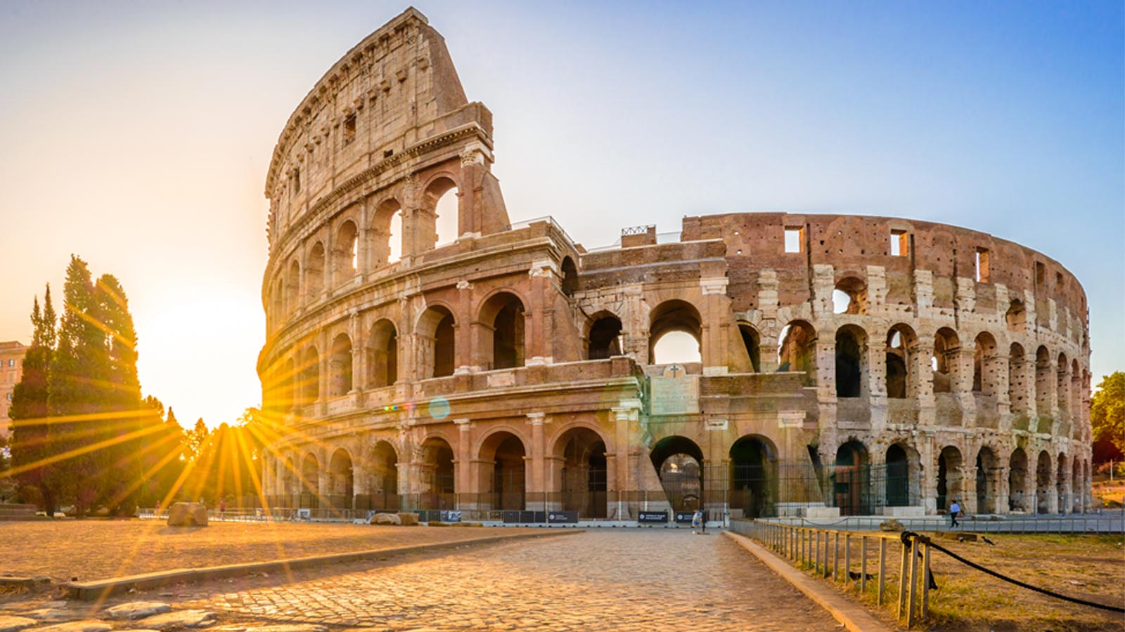 Rome Colloseum at sunset