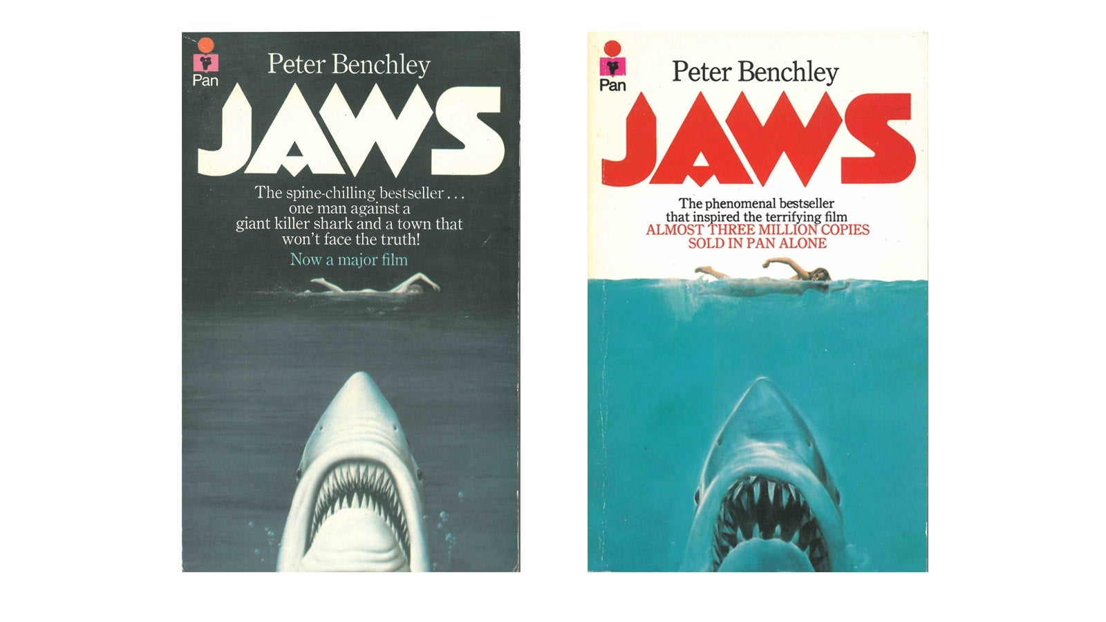 Jaws Film tie in covers