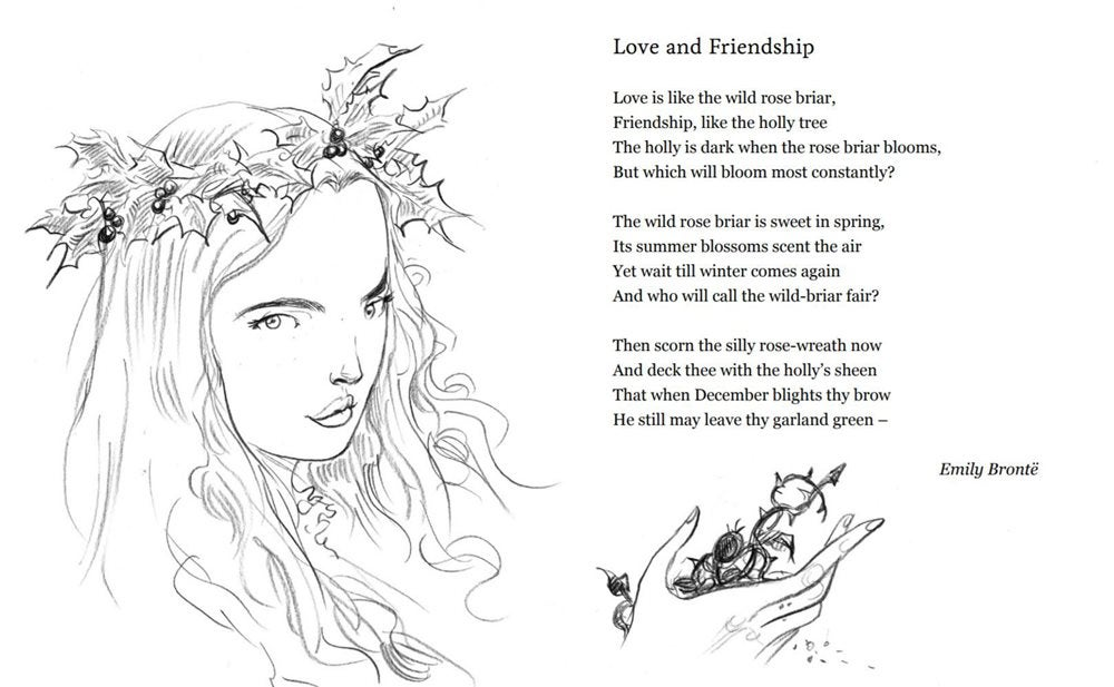 Illustration for Love and Friendship by Chris Riddell