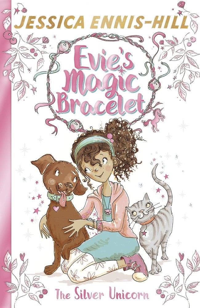 Book cover for Evie's Magic Bracelet: The Silver Unicorn