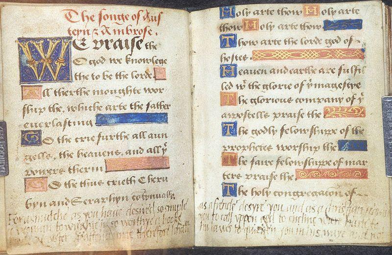 Old Bible written in English