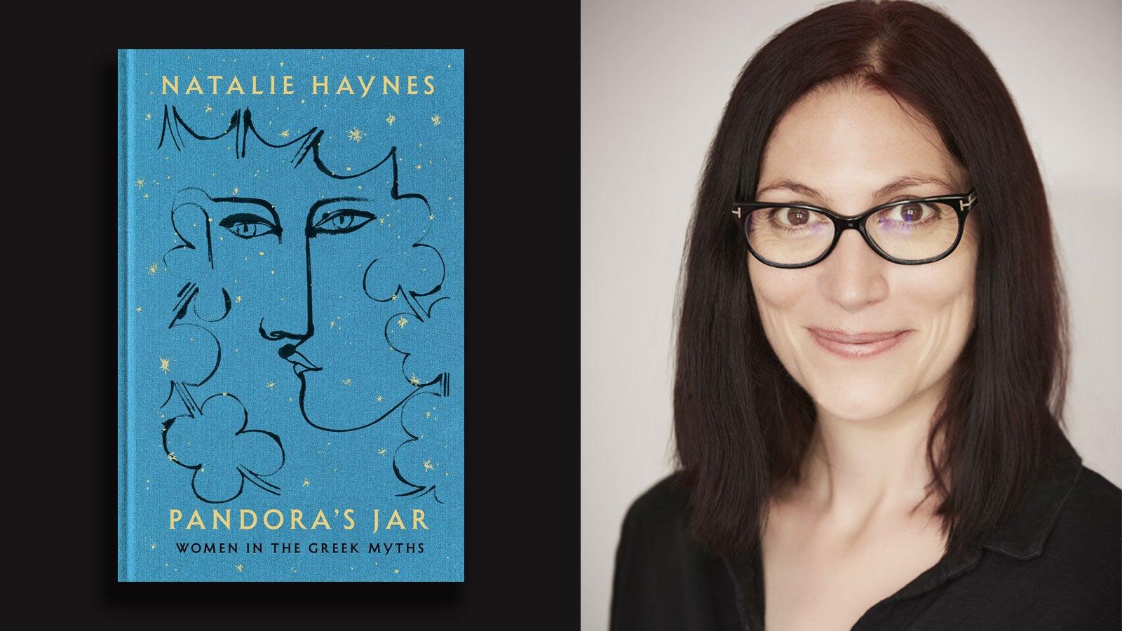Natalie Haynes and the cover of Pandora's Jar