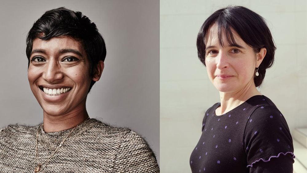 Portraits of Sarah Moss and Kishani Widyaratna